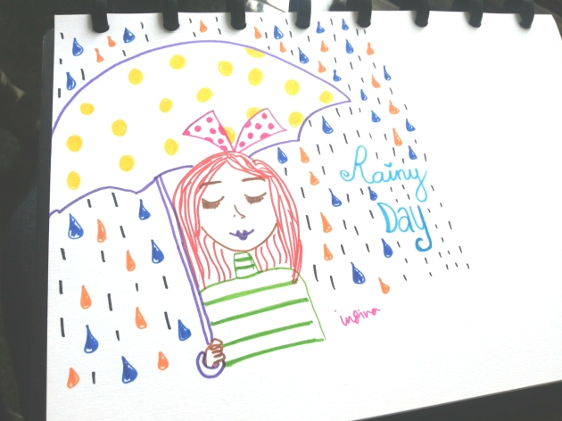 I drew this when rain season was coming