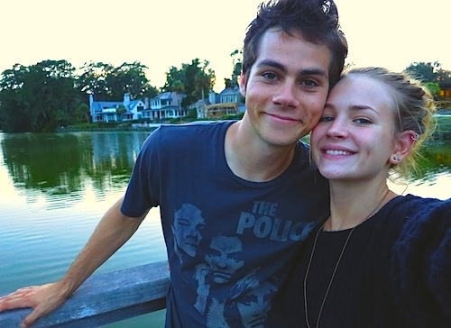 Dylan O'Briend and Britt Robertson
